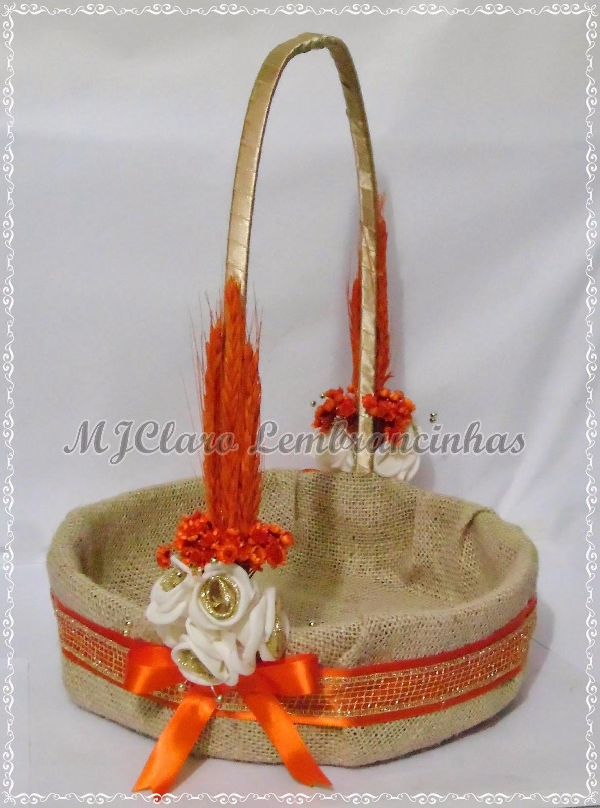 MJClaro Lembrancinhas Cesta para Casamento florista em Juta com
