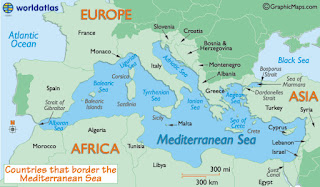 the mediterranean sea was formed from the atlantic flloding the basin