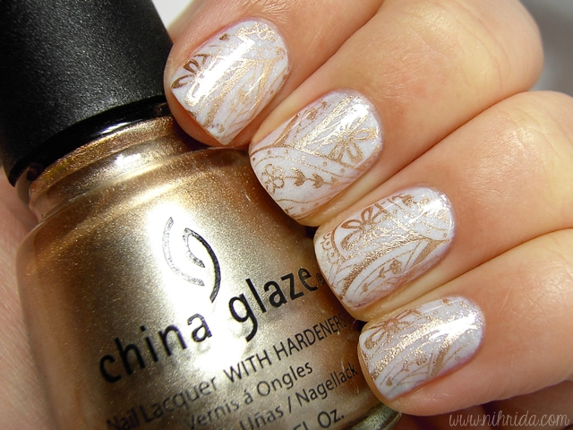 piCture pOlish White Wedding & China Glaze 2030 Stamping