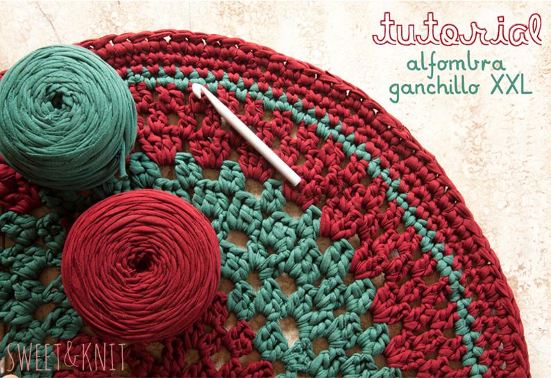 Alfombras crochet patrones imagui - Tutorial alfombra trapillo ...