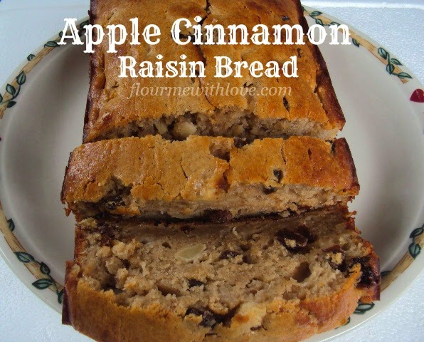 Apple Cinnamon Raisin Quick Bread; flourmewithlove.com