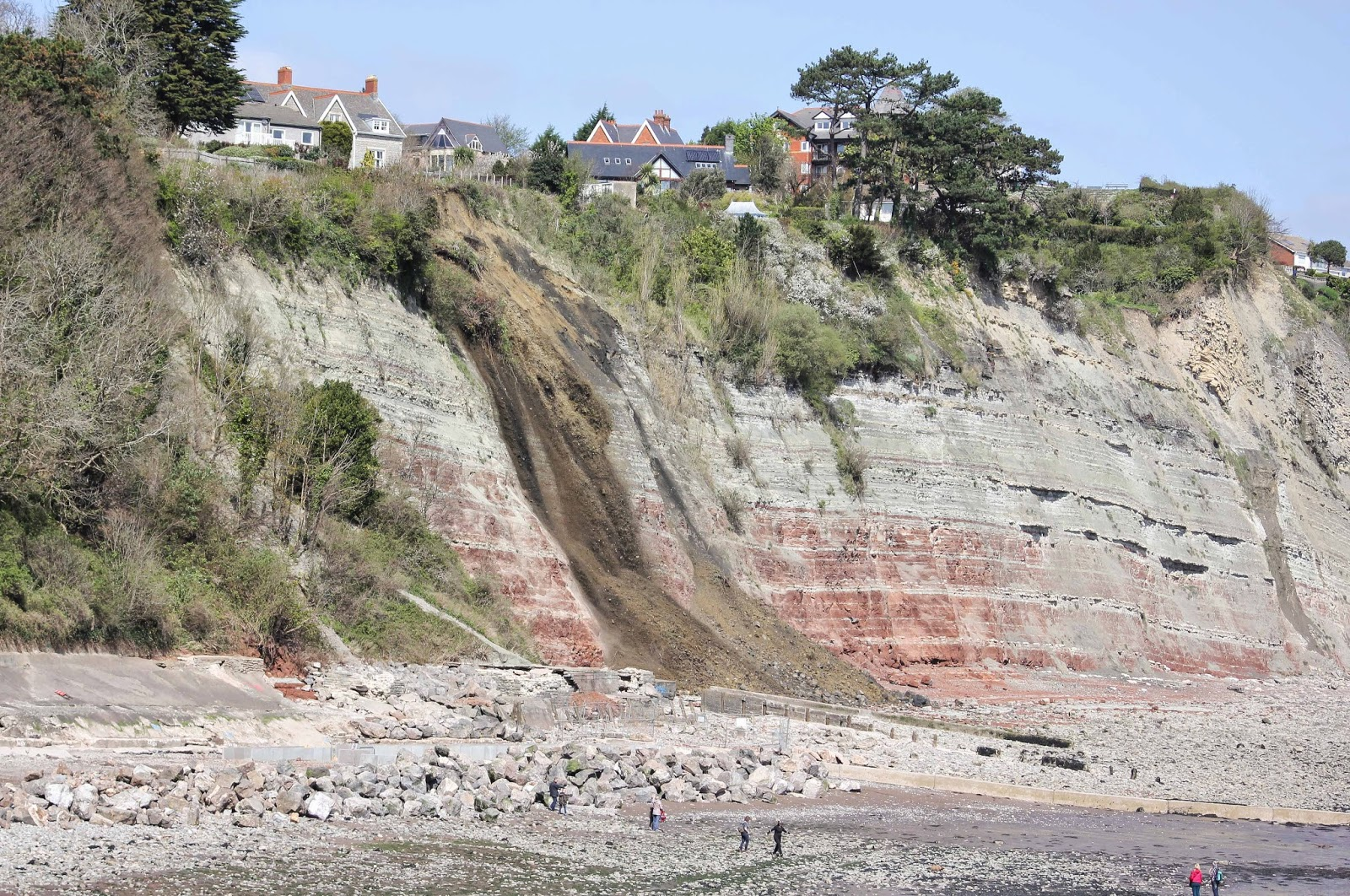 Penarth cliff landslide