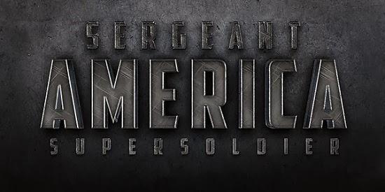"""Efek Teks Cinematic """"Sergeant America"""" """