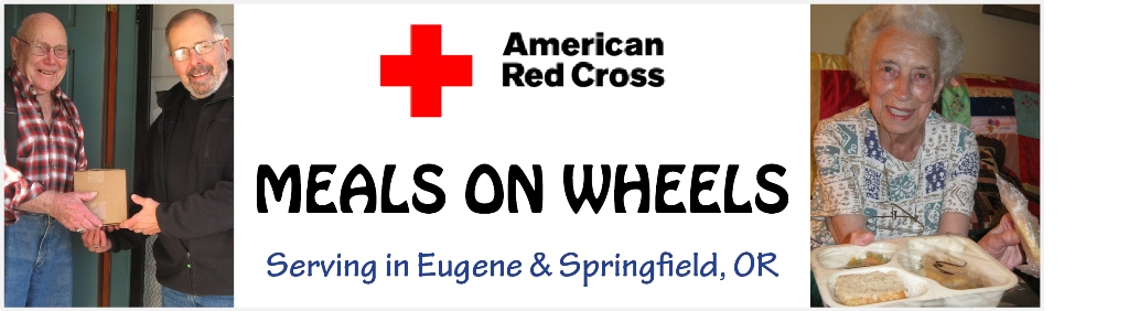Red Cross Meals on Wheels Eugene & Springfield, Oregon