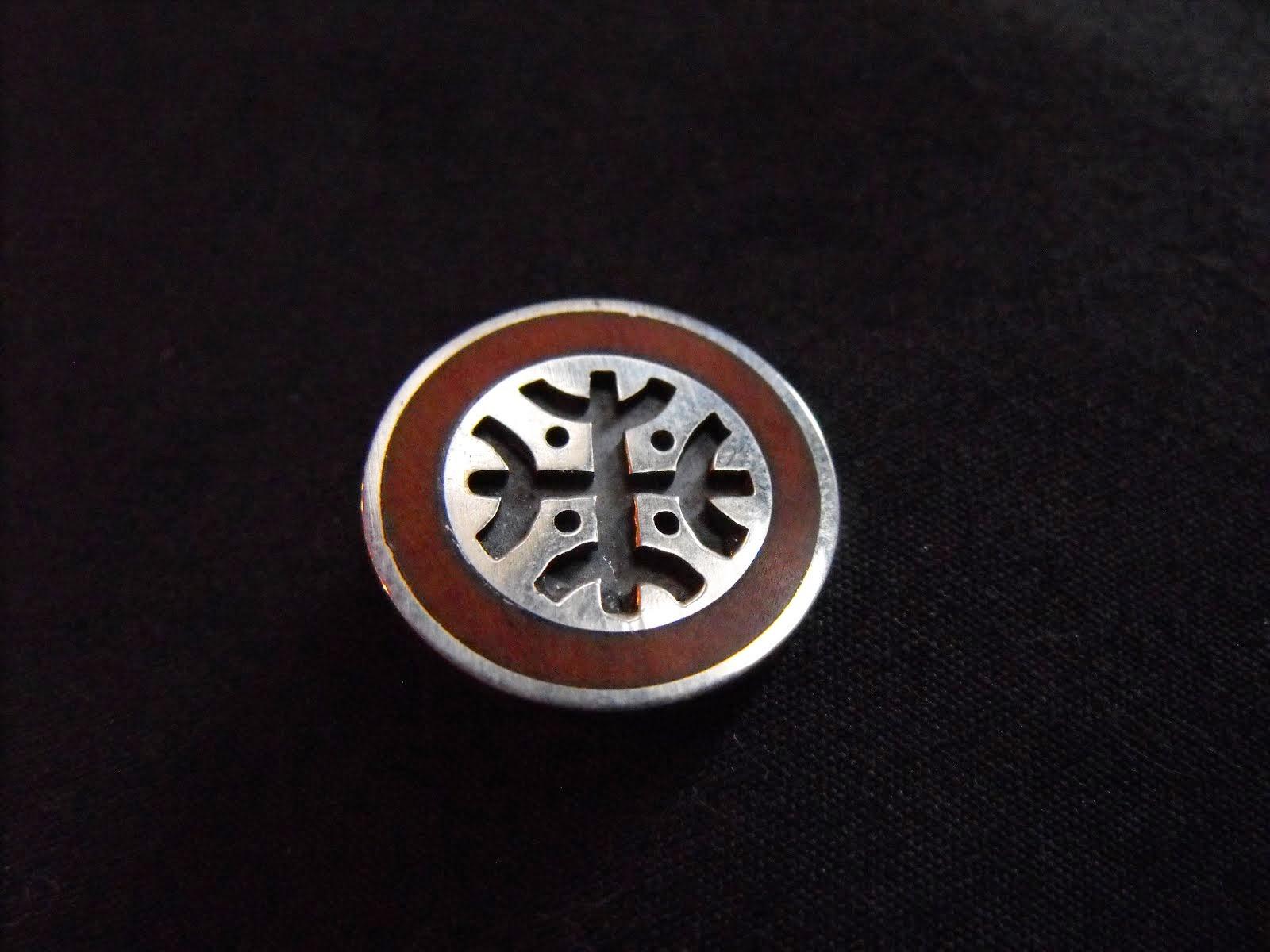 Prendedor plata picoyo, diseño envejecido (295)