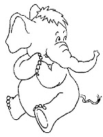 Cute Elephant Pictures Printable Coloring Sheet