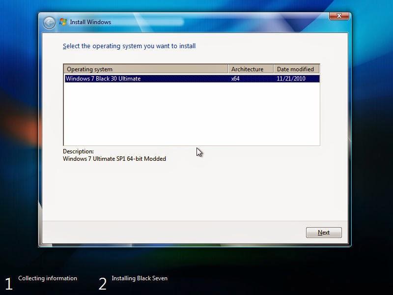Windows 7 Black Ultimate x64 30 by Mr. Kirk