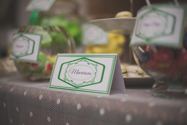 Candy Bar Comunión decorada en verde - Comuniones 2016 - La Comunión de Noa