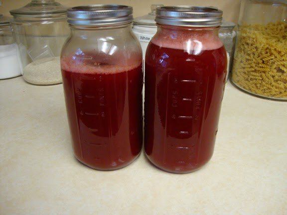 Almost 11 cups of juice extracted (with 3 cups of water)