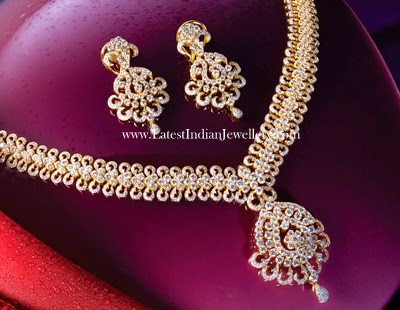 Dazzling Broad Diamond Necklace