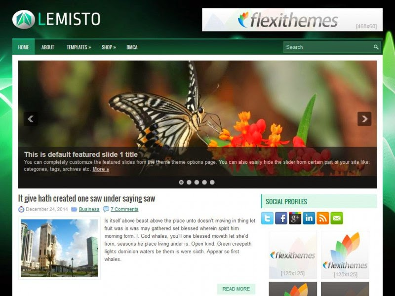 Lemisto - Free Wordpress Theme