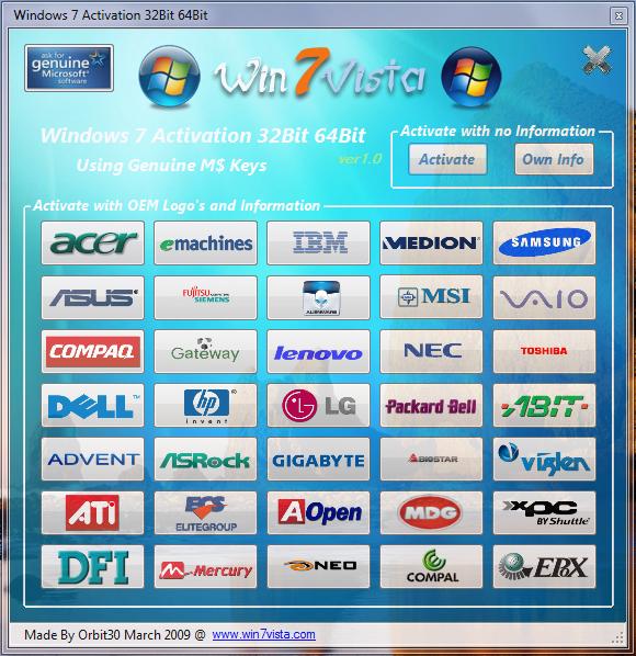 Download windows 7 activator for Window activator