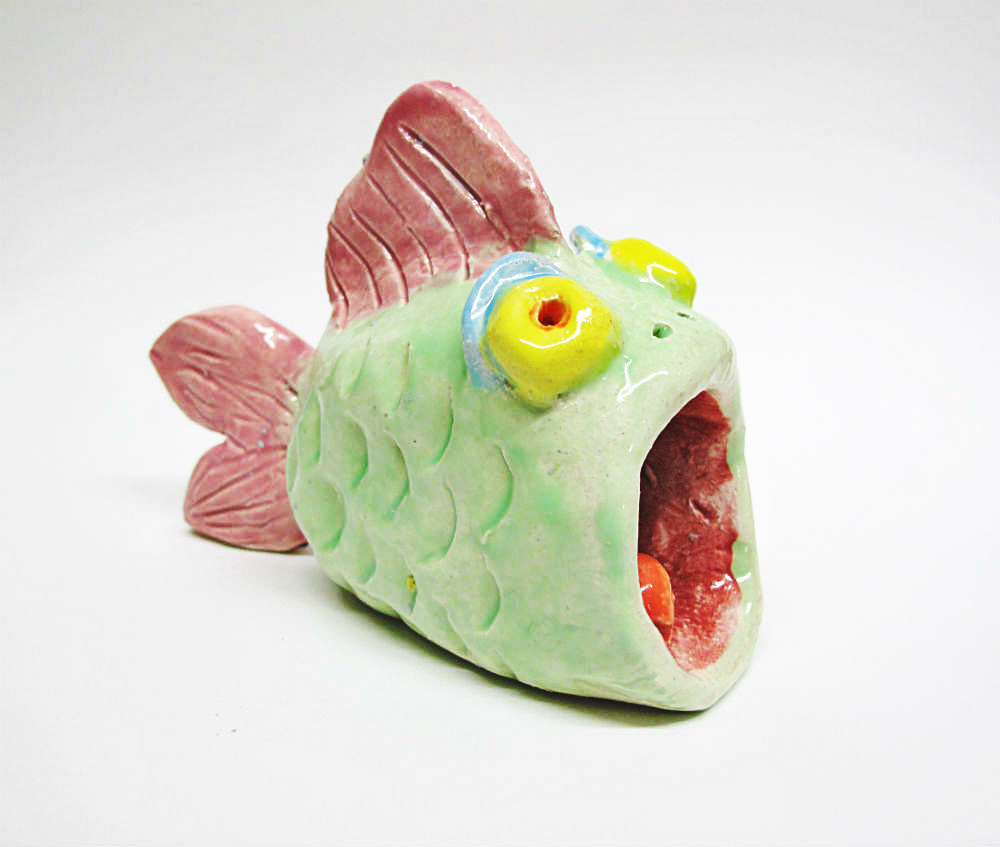 Clay Fish Sculpture by Beth Hemmila of Hint Jewelry