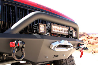 OR-Fab Jeep XJ Front winch bumper with Warn M8000 winch