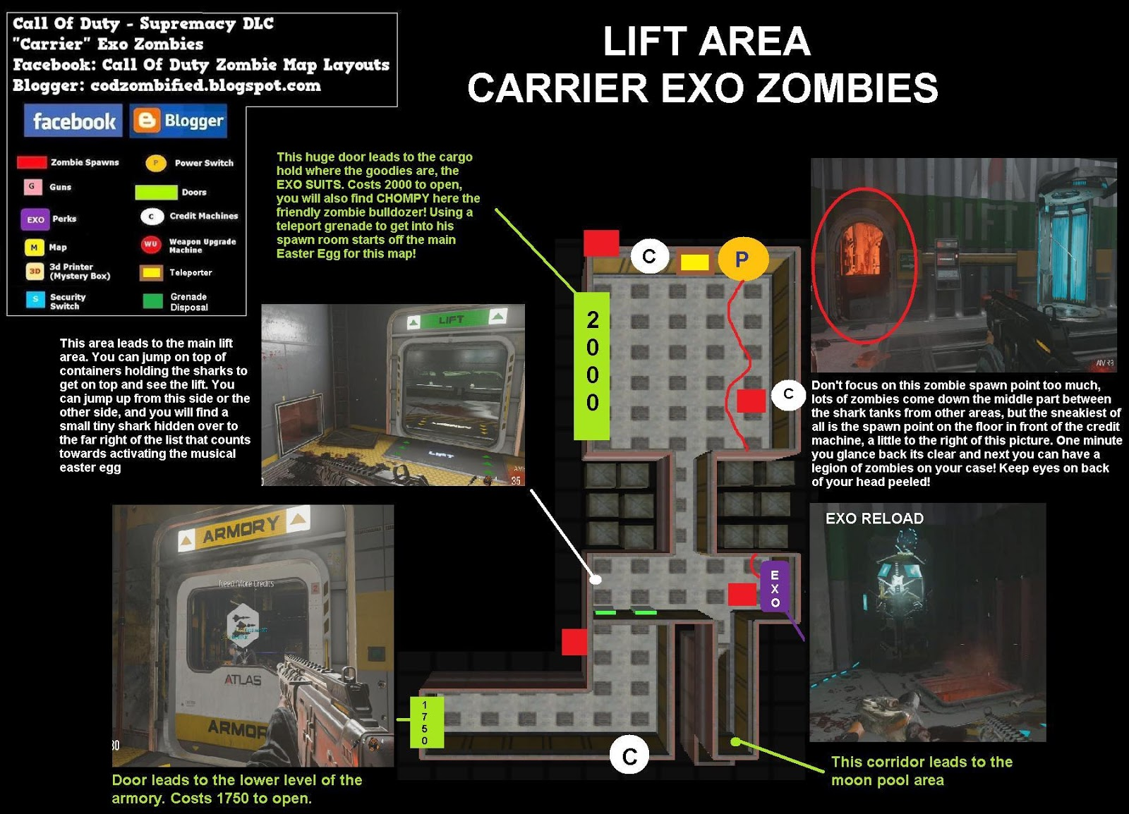 Zombified Call Of Duty Zombie Map Layouts Secrets Easter Eggs - Call duty exo zombies trailer looks epic