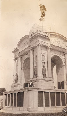 Millard Davis at Pennsylvania Monument, Gettysburg