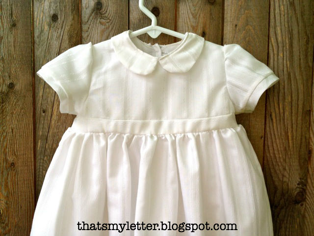 DIY Christening Gown from Mother\'s Holy Communion Dress - Jaime ...