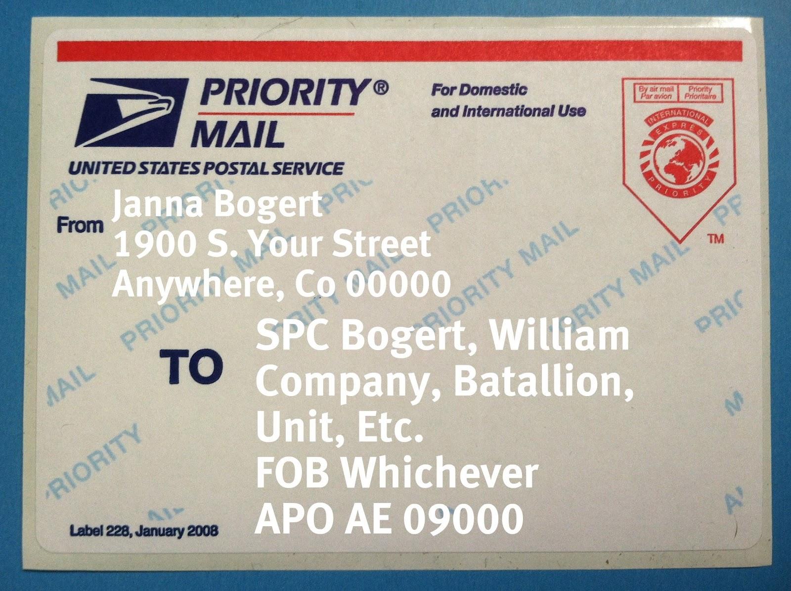 How to write an apo address