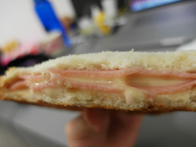 double cheese ham sandwich breakfast self made lunarrive