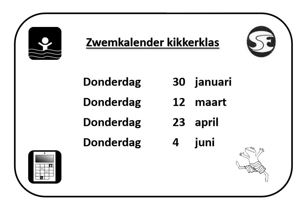 Zwemkalender kikkerklas