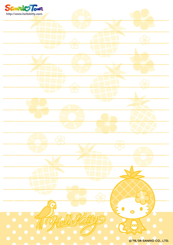 Hello Kitty Loft Hello Kitty Letter Papers For Free Hello Kitty Printable  Notepad .  Printable Notepad Paper