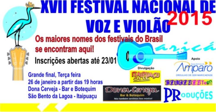 FESTIVAL NACIONAL DE VOZ E VIOLÃO