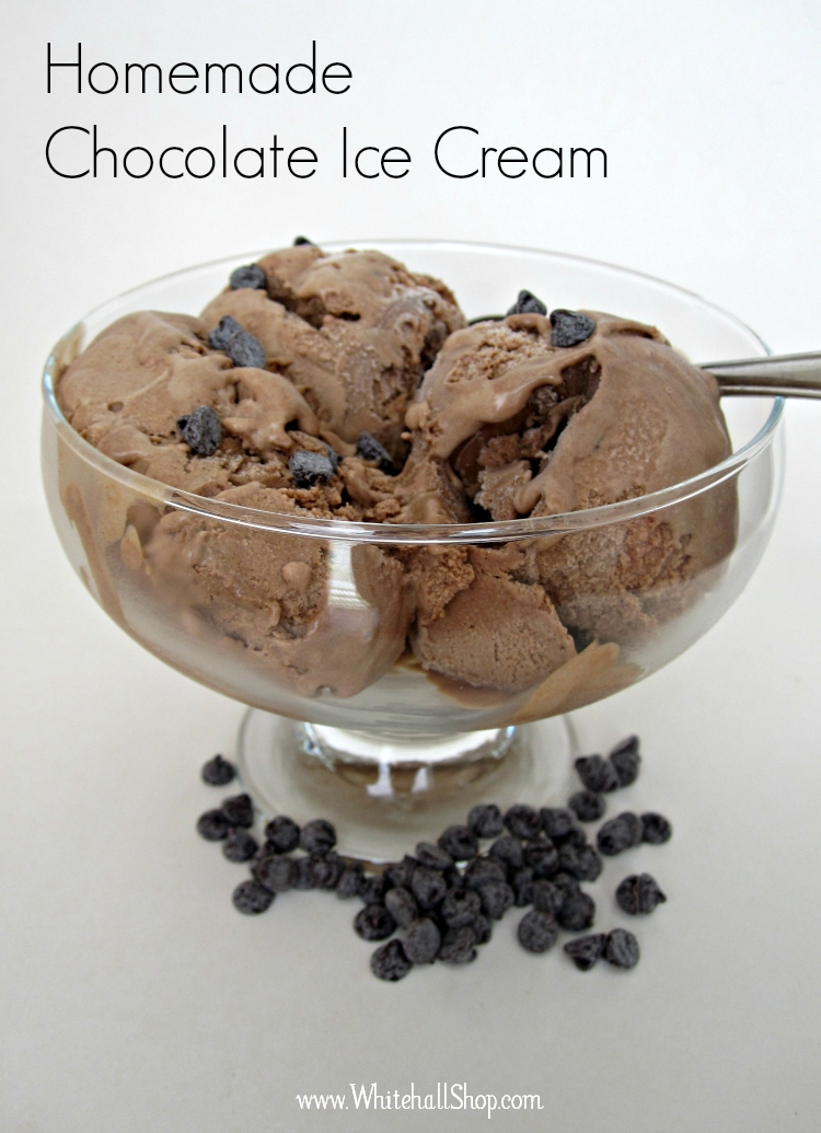 Chocolate Ice Cream in a Glass Dish