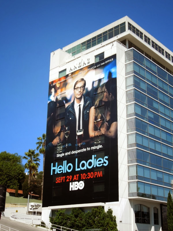 Giant Hello Ladies series premiere billboard