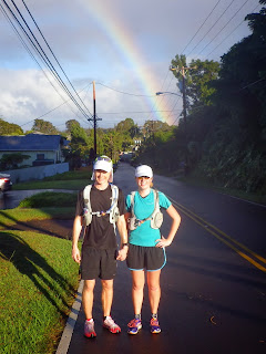 The Trail Effect Blog - Beautiful rainbows while running up Haleakala