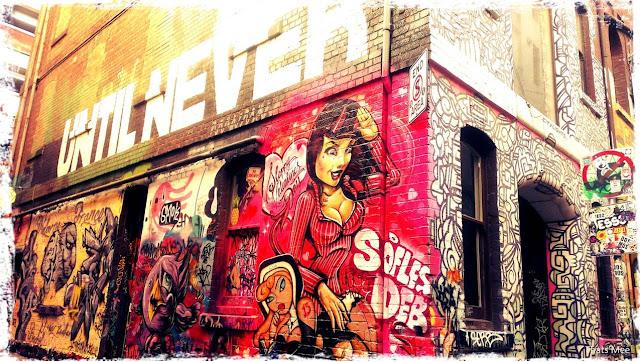 Street art Melbourne Australie, Sofles and Deb street art Melbourne hipster underground city
