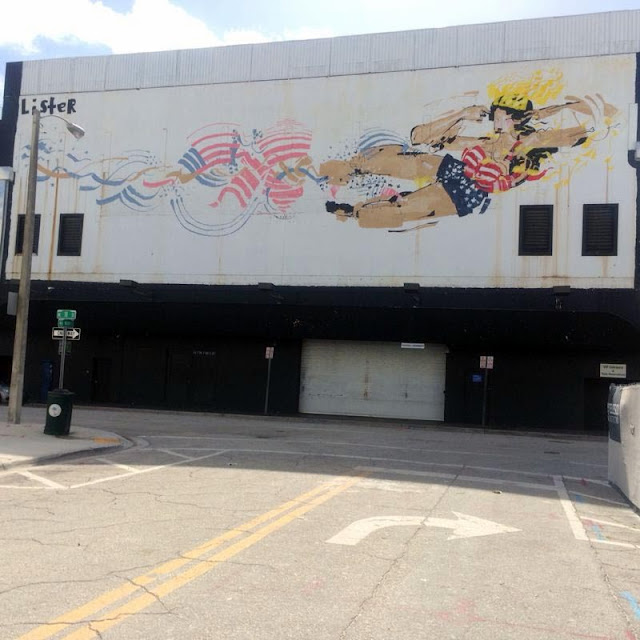 Australian Street Artist Anthony Lister Paints a new mural in Miami for Art Basel 2013. 3