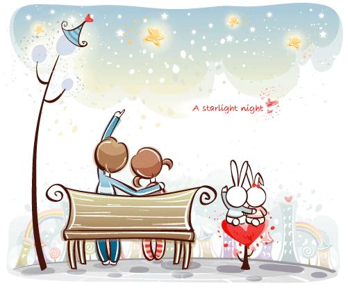Estampas de San Valentín 34 - Vector