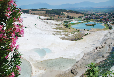 Pamukkale hot springs panorama
