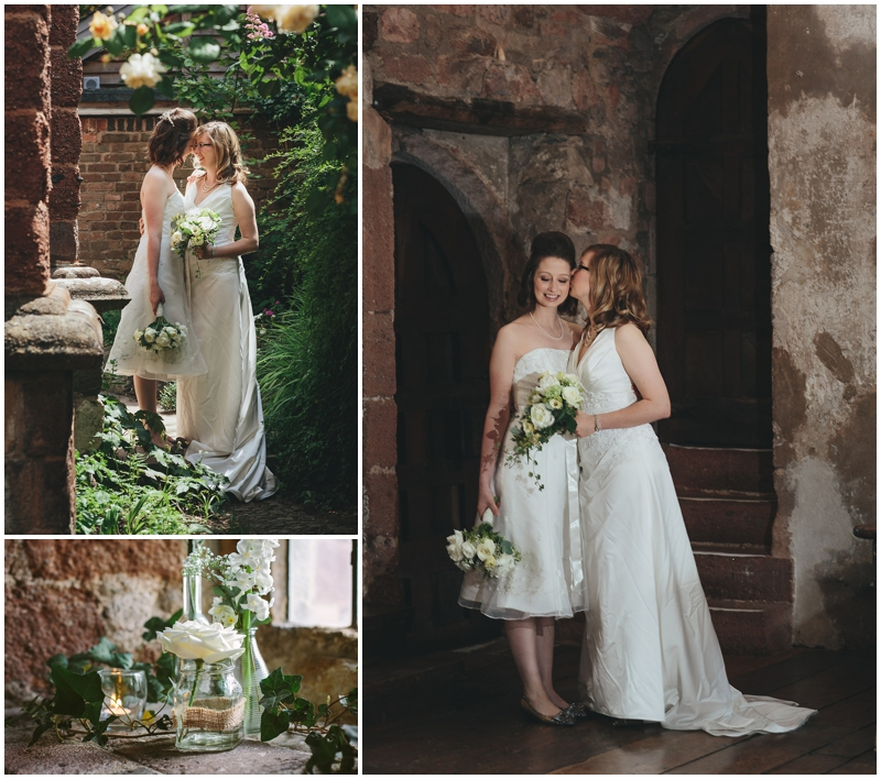 Brides posing at St NIcholas Priory
