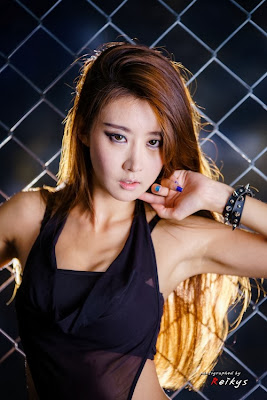 Park Hyun Sun Sexy in Black
