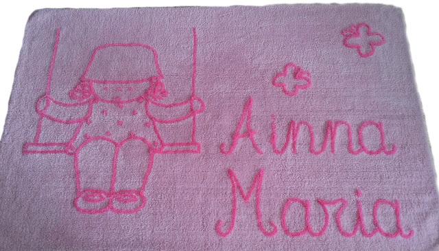 Alfombra infantil personalizada con nombre , algodón , lavable en lavadora