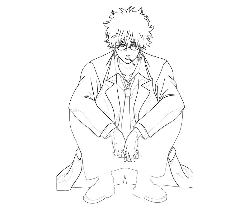 printable-sakata-gintoki-sitdown-coloring-pages
