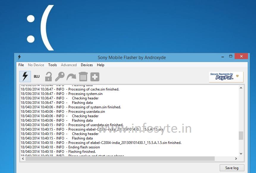Flashing stock update xperia c2004