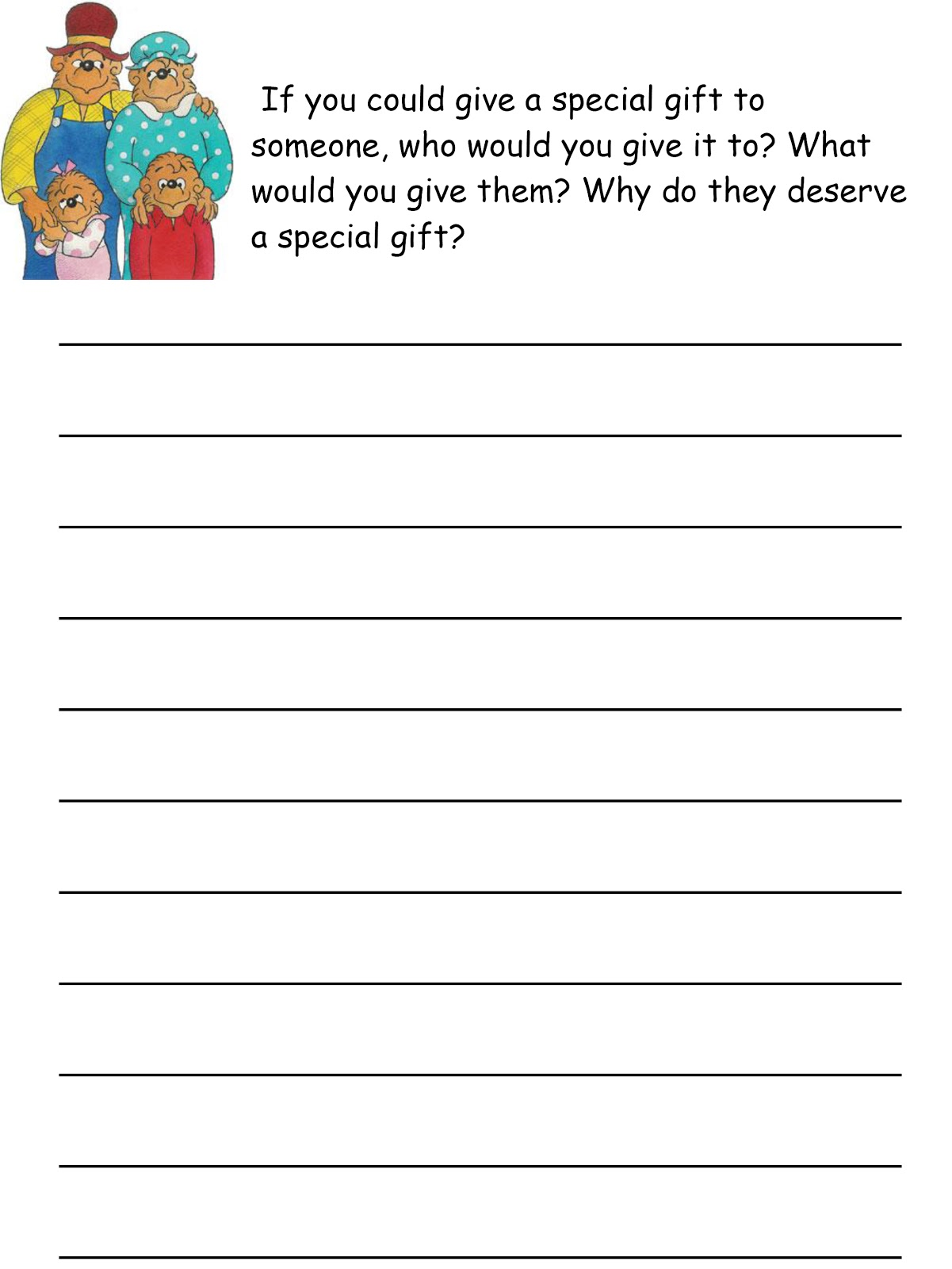 Creative writing service worksheets