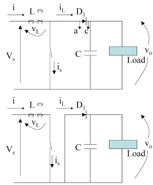 Power electronic converter-Boost Regulators – analysis of switch closed