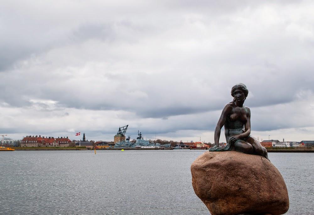little mermaid by the harbour of copenhagen