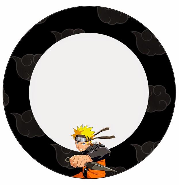 Toppers o etiquetas de Naruto para imprimir gratis.