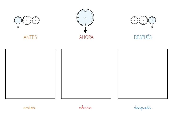 Actividades para colorear de antes y despues - Imagui