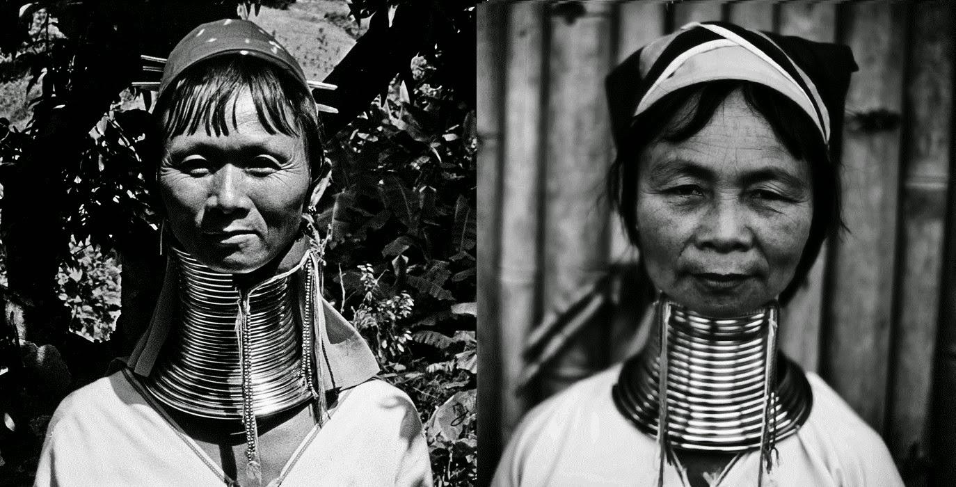 Mujeres Padaung de la etnia Kayan