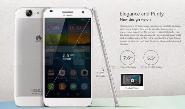 Spesifikasi dan Harga Huawei Ascend G7