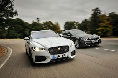 Compare Among BMW 5 Series vs Jaguar XF  fonr view