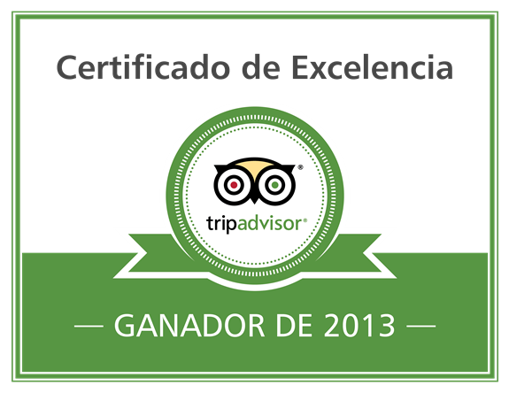 Obtiene 1OO%natural el certificado de excelencia de Tripadvisor 2013