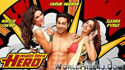 Poster Of Hindi Movie Main Tera Hero (2014) Free Download Full New Hindi Movie Watch Online At worldfree4u.com