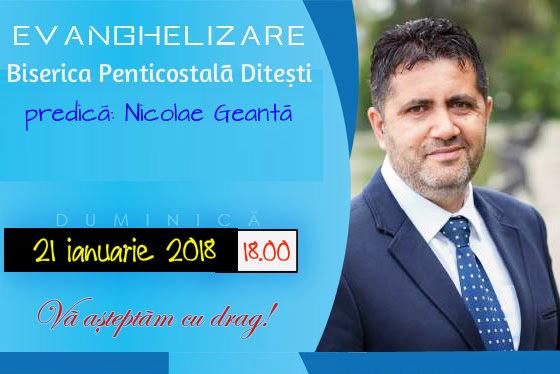 Nicolae Geantă la Dițești