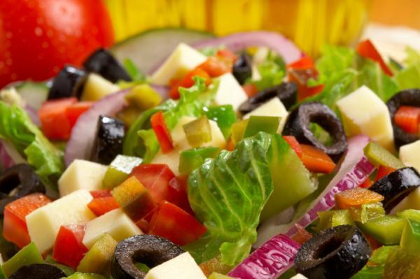 Mediterranean meal vs. junk food meal